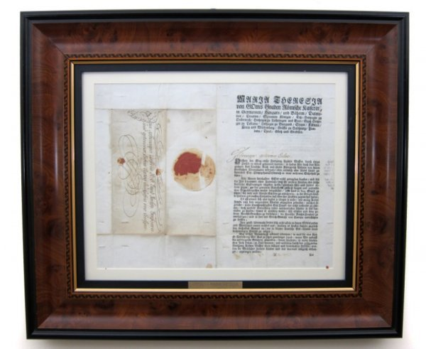 12: Autographed Document, Maria Theresa (1717-1780)