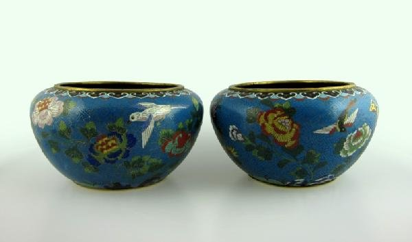 15: Pair of Very Fine Chinese Cloissonne Jars