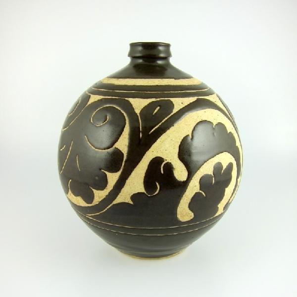 21: Chinese Tz'u Chou Brown-Glazed Pottery Vase