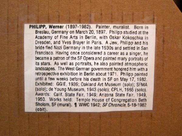 161: Werner PHILIPP (1897-1982) Oil Painting - 5