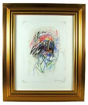 128B: Joan MITCHELL (1926-1992) Pastel