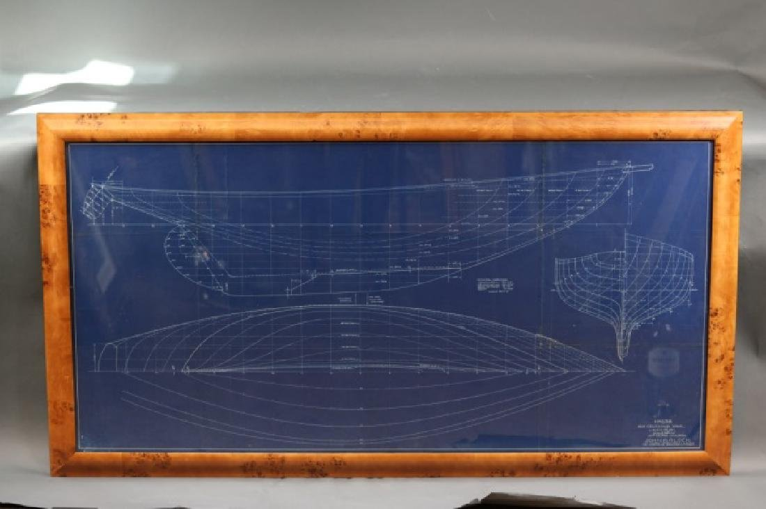 Blueprint of Alden yacht Evening Star