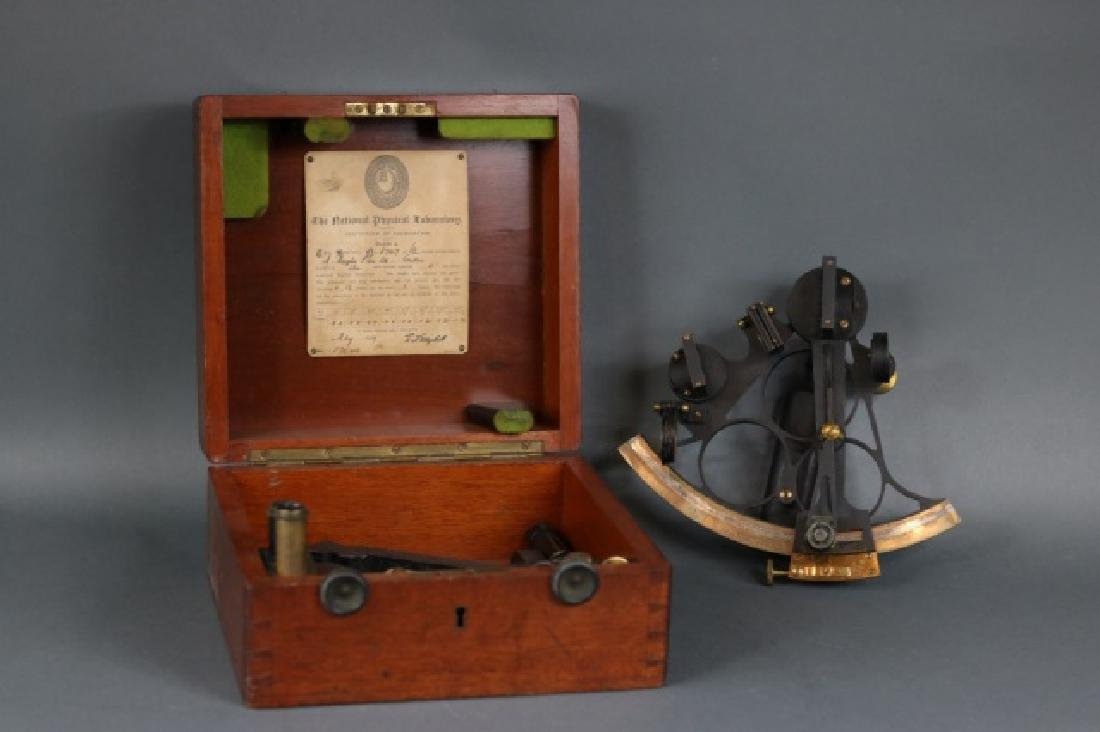 1919 Brass Ship's Sextant - 2