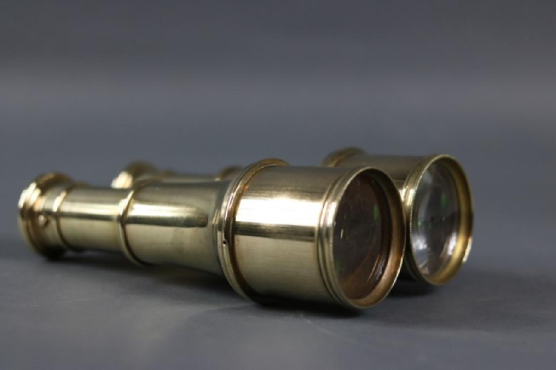 Pair of Brass Yachting Binoculars - 2