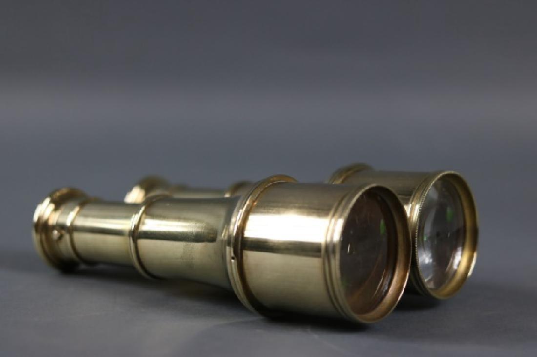 Pair of Brass Yachting Binoculars - 4