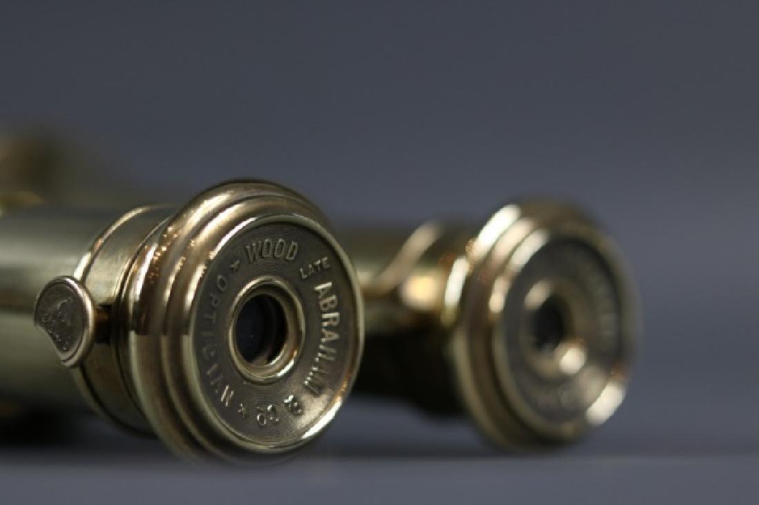 Pair of Brass Yachting Binoculars - 5