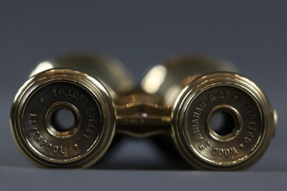 Pair of Brass Yachting Binoculars - 6