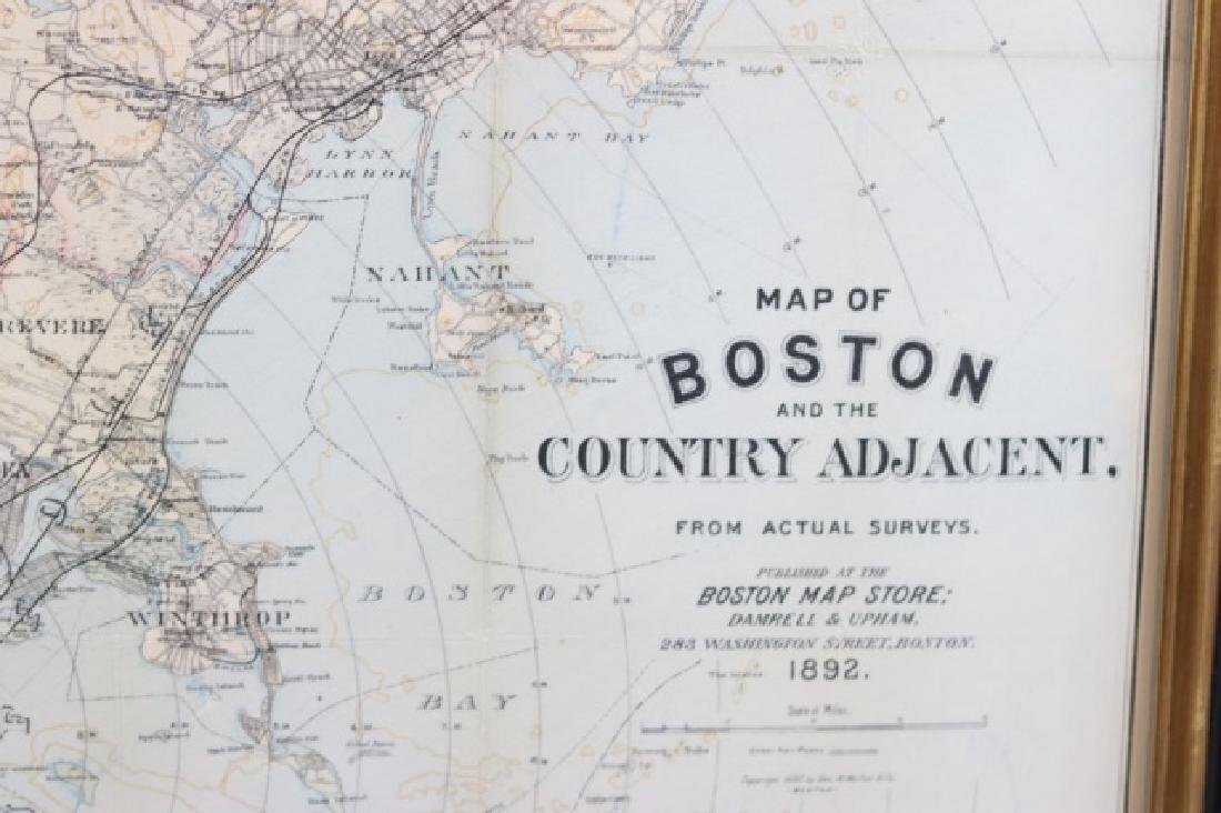 1892 Map of Boston area - 2
