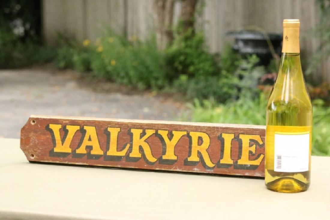 "Original nameboard of the yacht ""Valkyrie"" - 2"