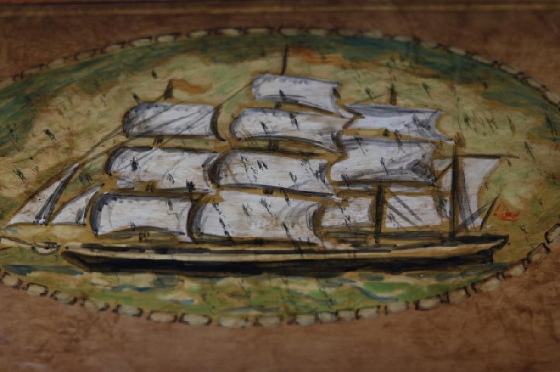 Chest with Clipper Ship Painting - 3