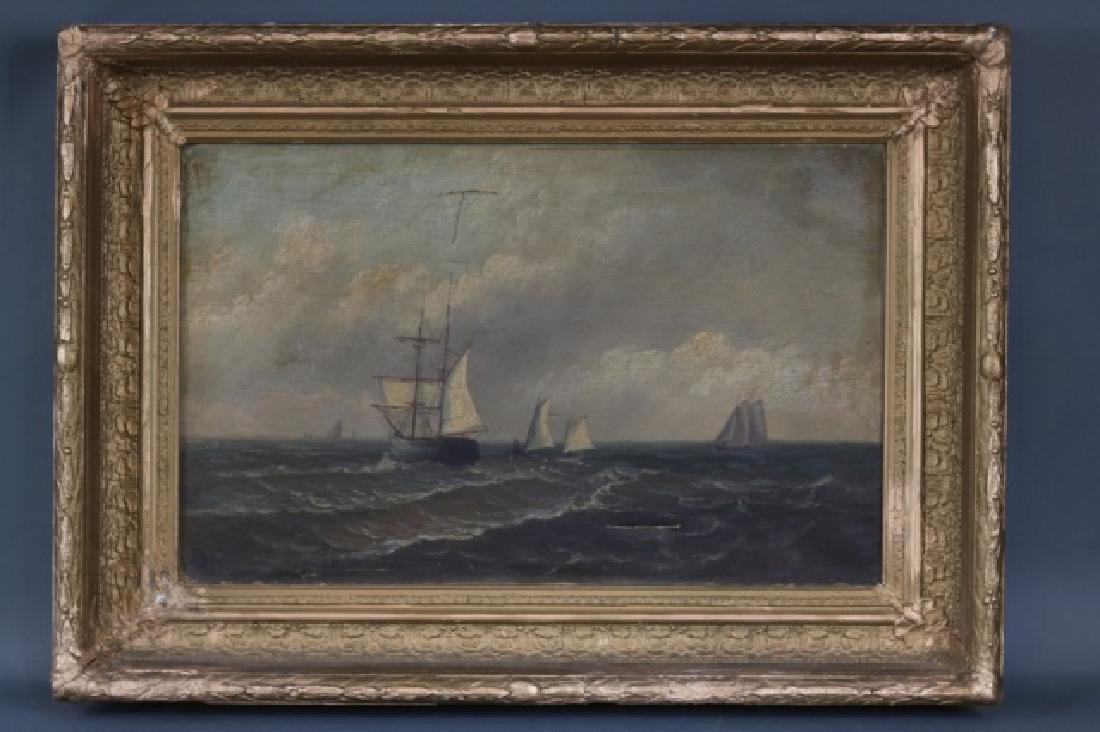 Oil on Canvas of Sailing Ships