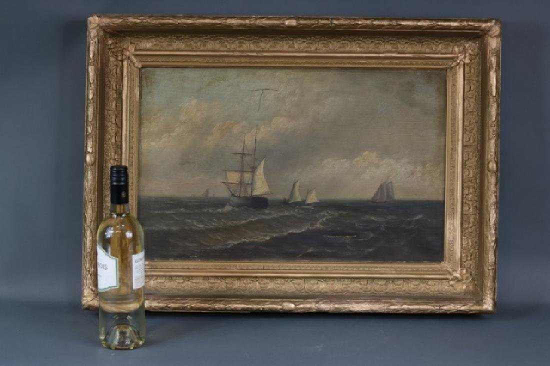 Oil on Canvas of Sailing Ships - 3