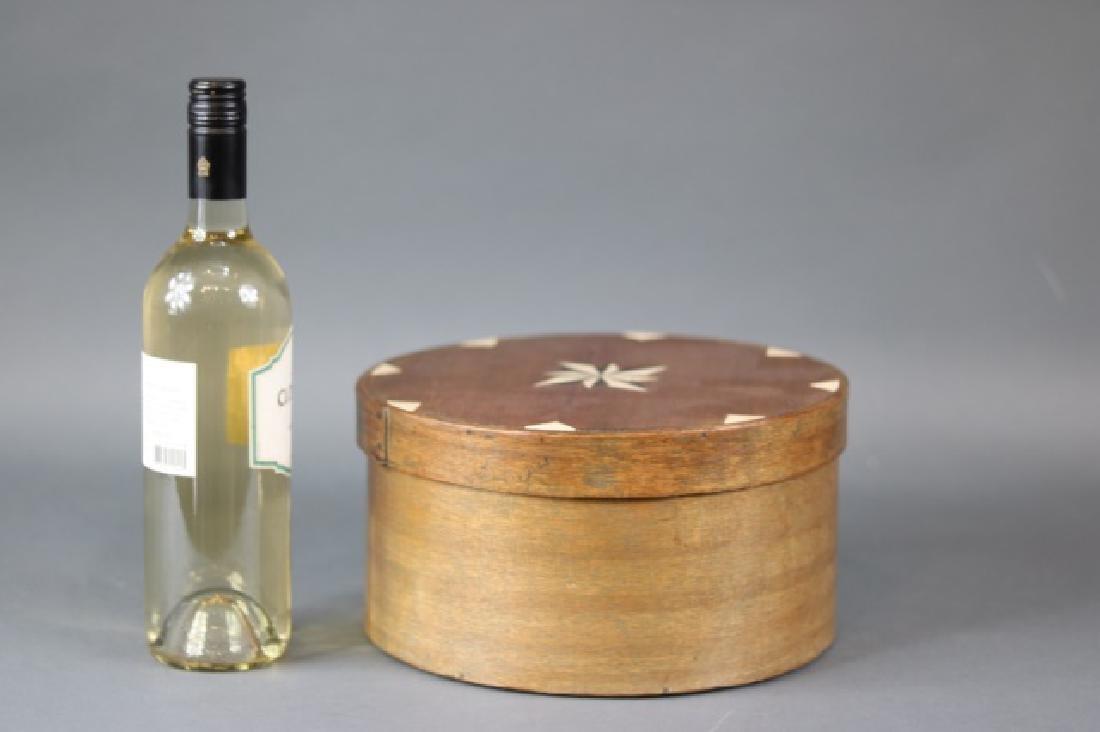 Round, Inlaid Wood Ditty Box - 4