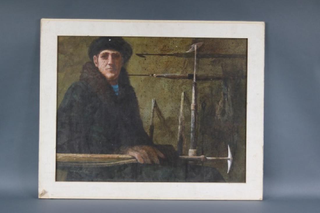 Painting of a marine blacksmith