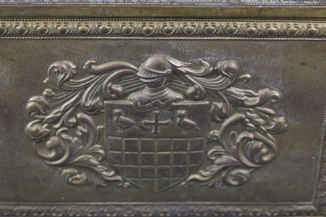 Brass Clad English Kindling Box - 2