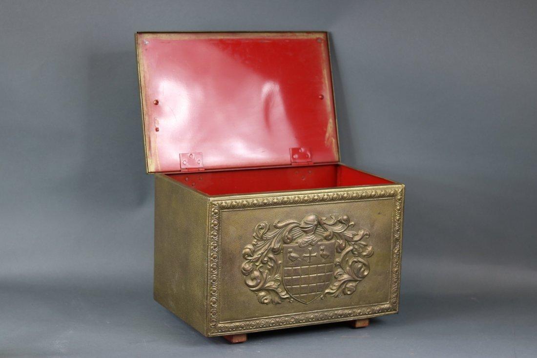 Brass Clad English Kindling Box - 3