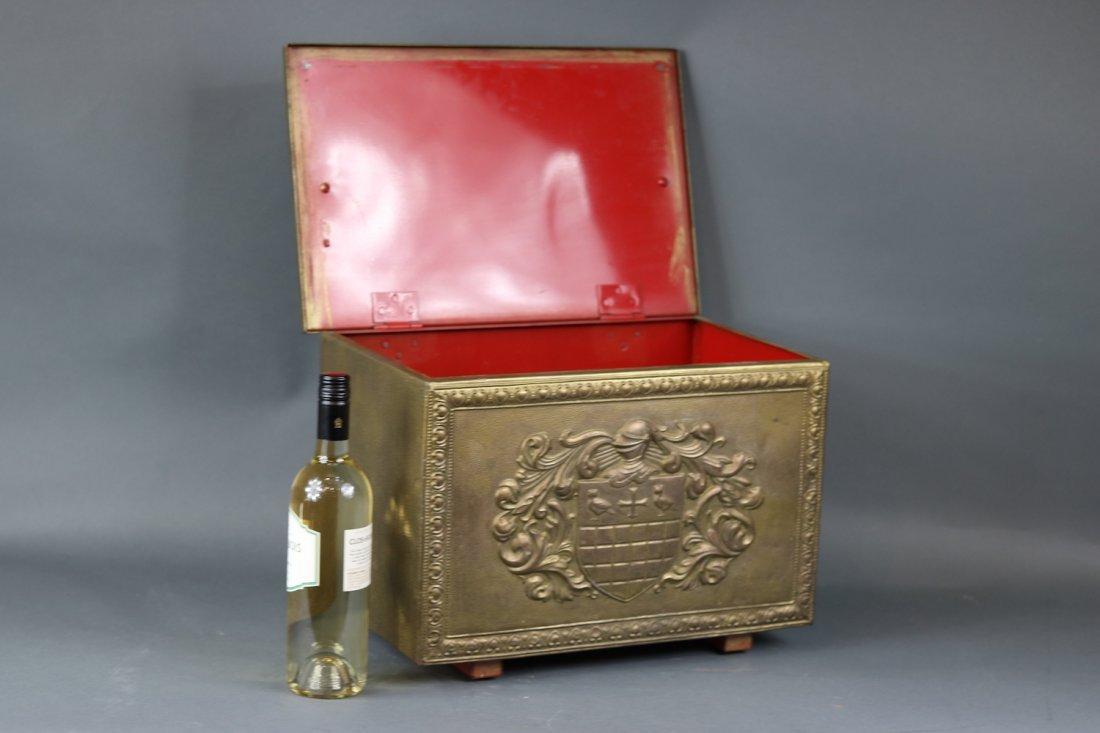 Brass Clad English Kindling Box - 4