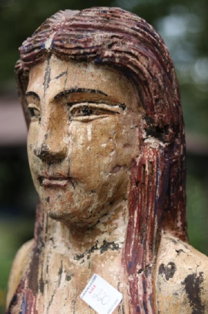 Large Carved Mermaid Figure - 3