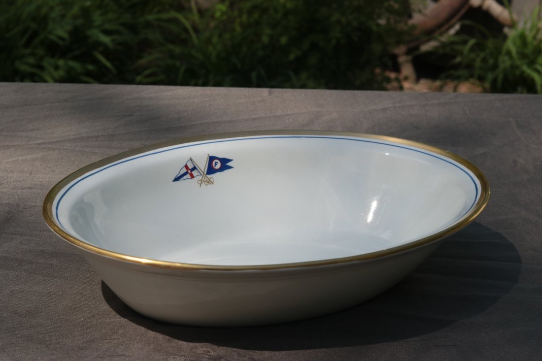 Oval Serving Bowl | Boston Yacht Club of Marblehead