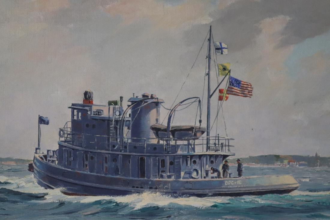 Boston built tugboat painting - 2