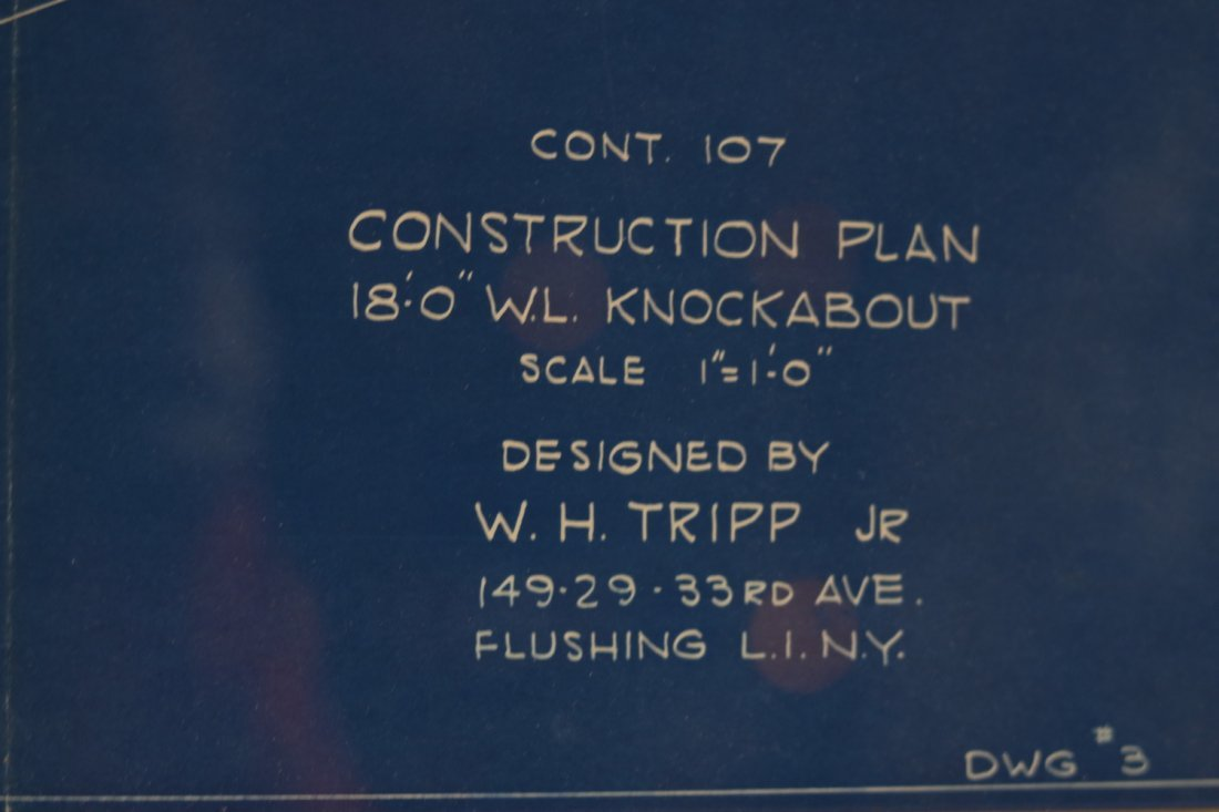 Original Yacht Plan by Tripp - 3