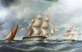 Richard Barnett Spencer Marine Painting