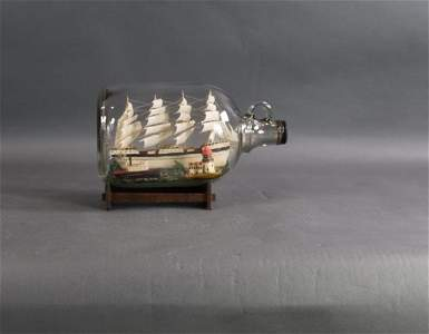 Classic ship in a bottle