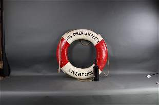 LIFERING FROM RMS QUEEN ELIZABETH LIVERPOOL