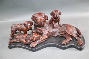 COMPOSITE CASTING OF A DOG WITH PUPS
