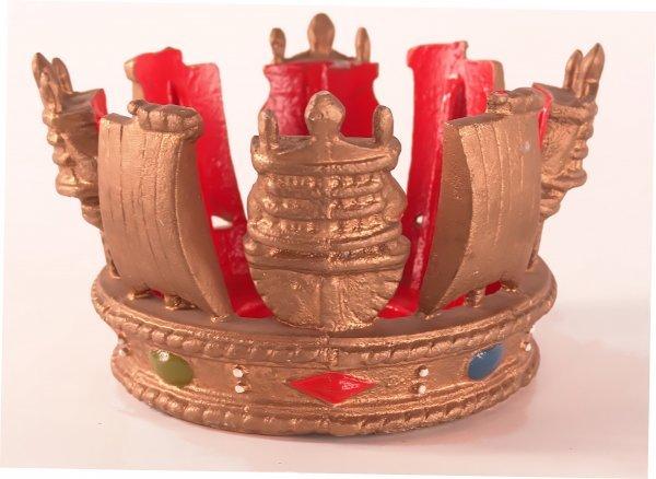 1001: Mast crown - British Royal Navy.