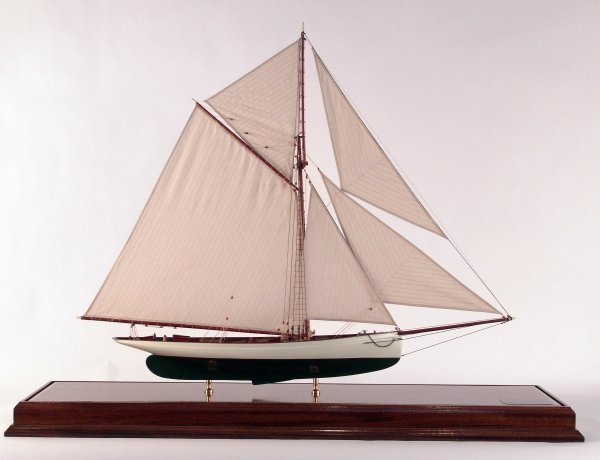 """1020: America's Cup Yacht """"Puritan"""" of 1895."""