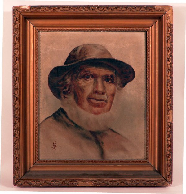 1072: Early 20th Century Oil of a Salty Fisherman.
