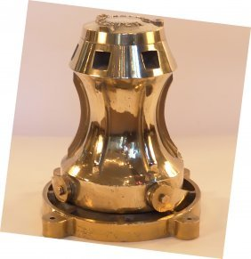 Solid Brass Ship's Capstan.