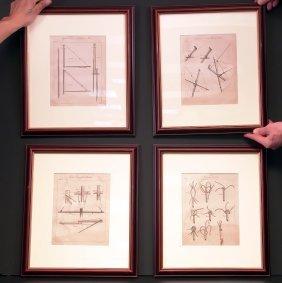 Four 19th Century Rigging Prints.
