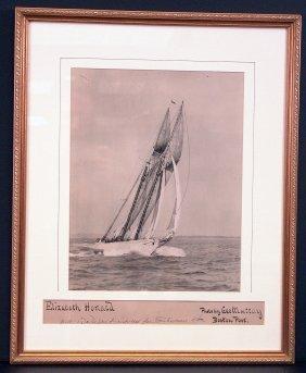 """Photo Of Schooner """"Elizabeth Howard""""."""