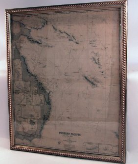 19th Century Chart Of The Western Pacific.