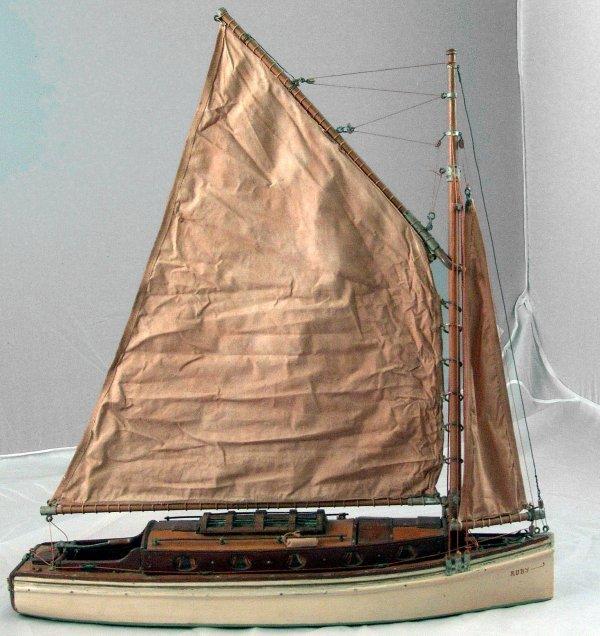 1101: 19th Century waterline model.