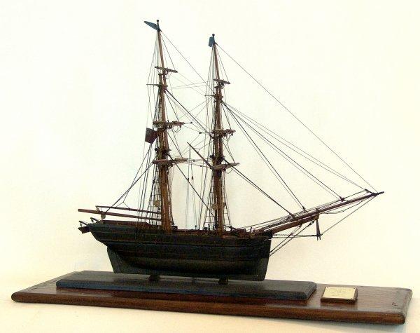 1111: 19th Century model of a Snow Brig.