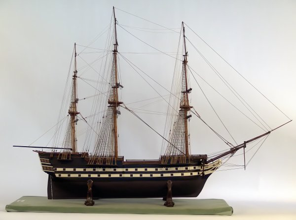 1147: 19th Century Model of a French Frigate