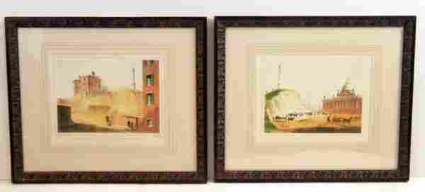 1276: Beacon Hill prints, a pair.