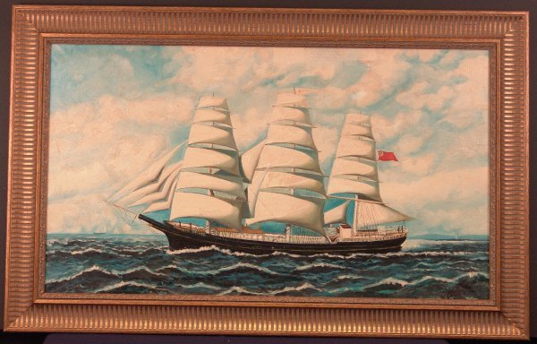 2012: Oil on Canvas of a Clipper Ship