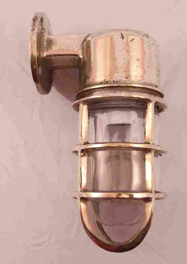 Solid brass ship's companionway lamp.