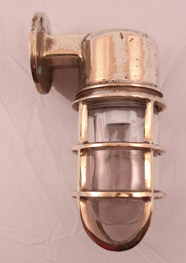 2014: Solid brass ship's companionway lamp.