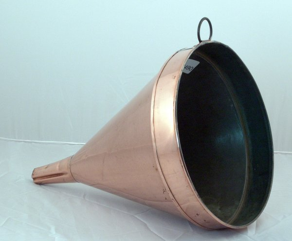 2223: Large copper funnel. - 2