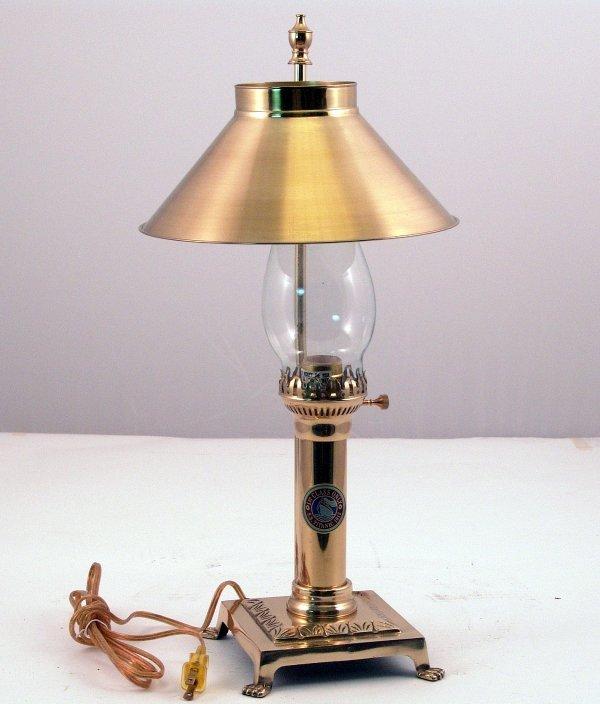 2297: Brass Titanic Lamp