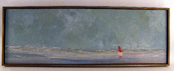 1015: Impressionist Catboat painting by Doyle.