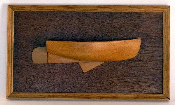 1047: Half model of a catboat