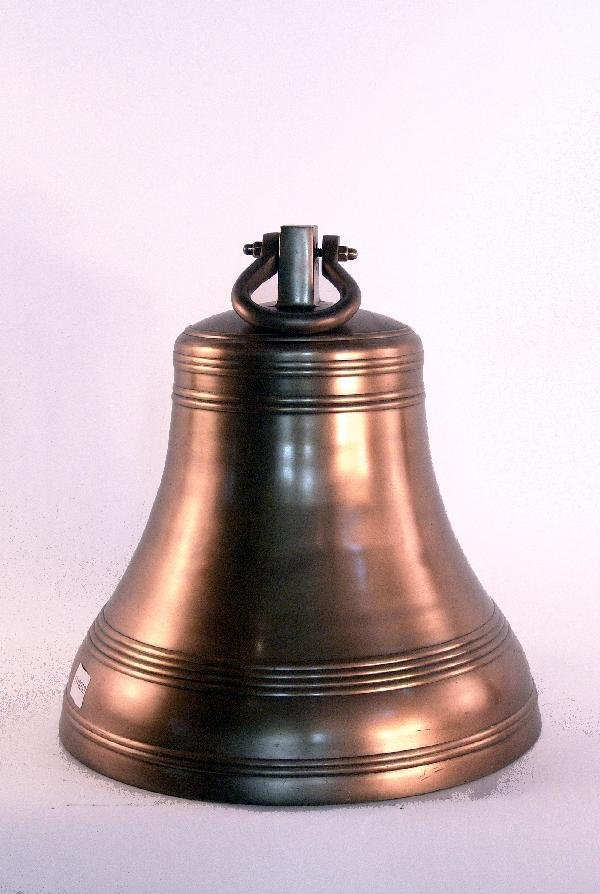 1048: Large painted bell with gong