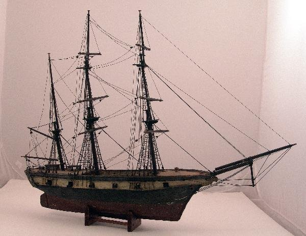 1049: 19th Century model of a warship