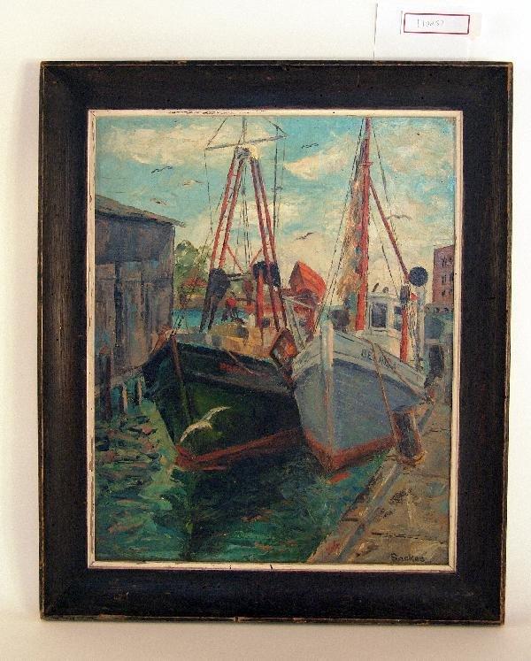 1052: Oil of Gloucester harbor.